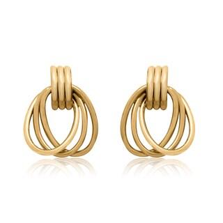 Gioelli 14k Yellow Gold Interlocked Oval Dangle Earrings