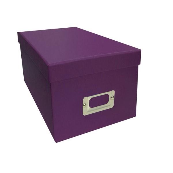 Pioneer Photo Albums Purple Cd Dvd Storage Box Set Of 6