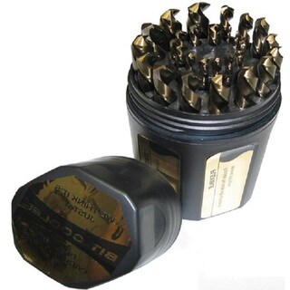 KFD 1/16 - 1/2 HSS Black and Gold Jobber Drill1/64 Increments Set in Shatter Proof Case (29-piece Set)