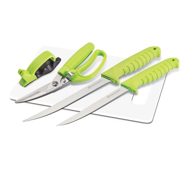 Kilimanjaro 5-piece Fishing Knife Set with Cutting Board