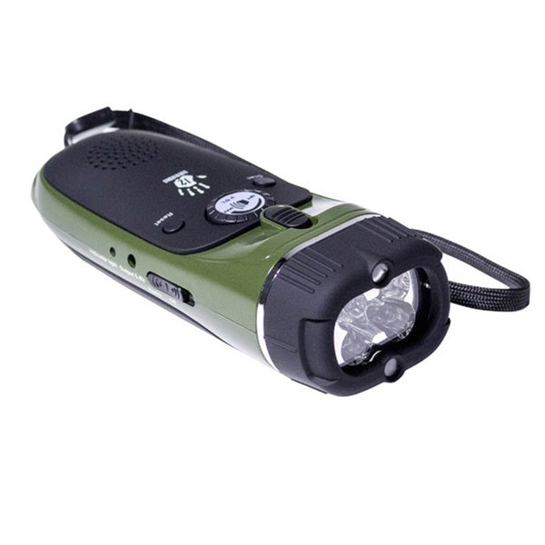 12 Survivors Emergency Hand Crank Radio/ Flashlight