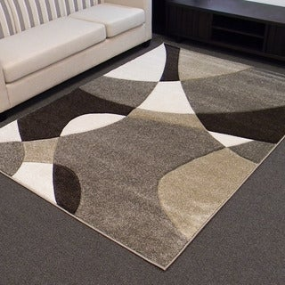 Hollywood Abstract Wave Fume Area Rug (5' x 7')