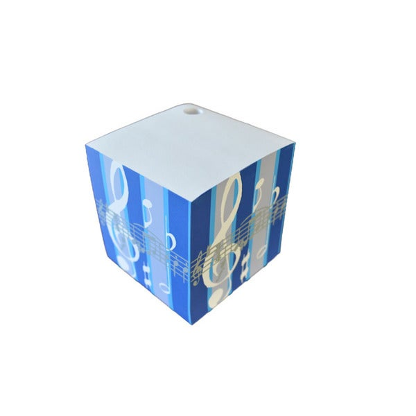 Blue Treble Clef Note Pad Cube