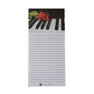 Piano and Rose Shopping List Note Pads (Pack of 10)