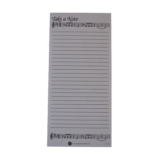 Music Gifts 'Take A Note' Shopping List Note Pads (Pack of 10)
