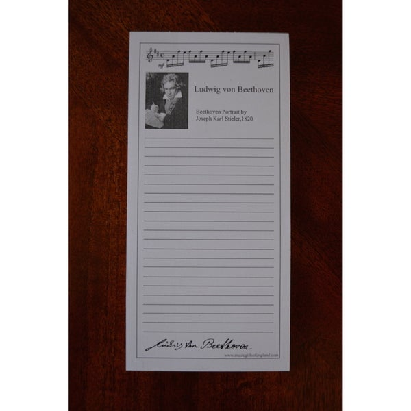 Beethoven Shopping Note Pad (10 Pack)