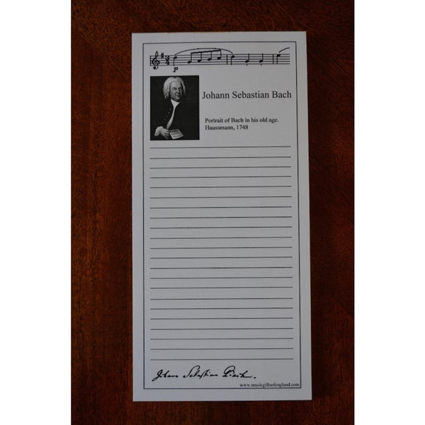 Bach Shopping List Note Pads (Pack of 10)