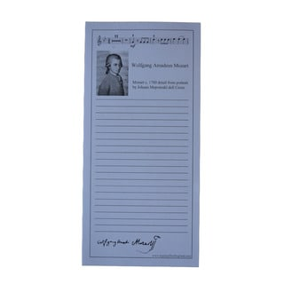 Mozart Shopping List Pads (Pack of 10)