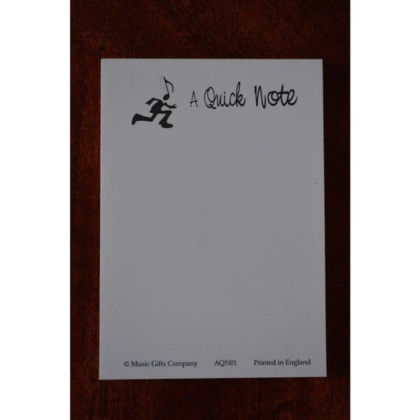 Note Pads Music Gifts 'A Quick Note Pad' (10 Pack)