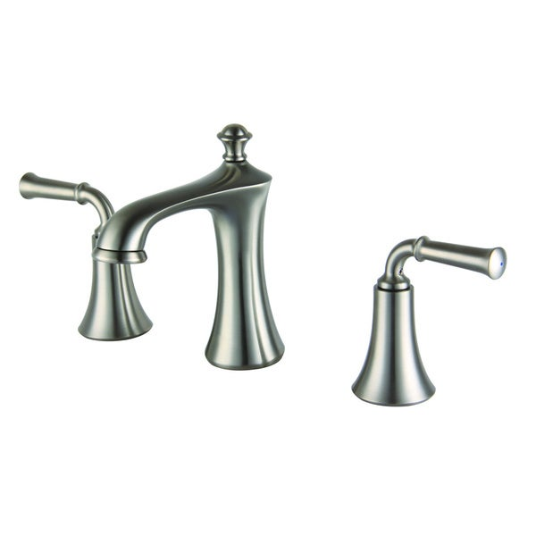 Two handle 8 inch widespread lavatory faucet with metal for Bathroom 8 inch spread faucets