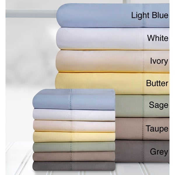 Grand Patrician Hemstitch 100-percent Cotton 800 Thread Count Sheet Set
