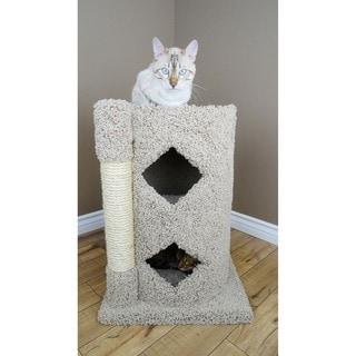 New Cat Condos 2-Story Solid Wood Cat Cavern