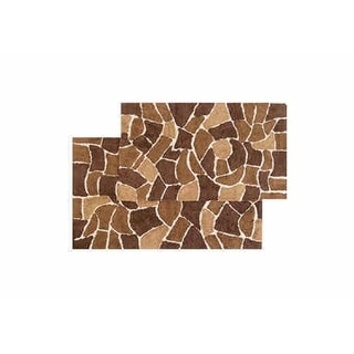 Cobblestone 2-piece Bath Rug Set