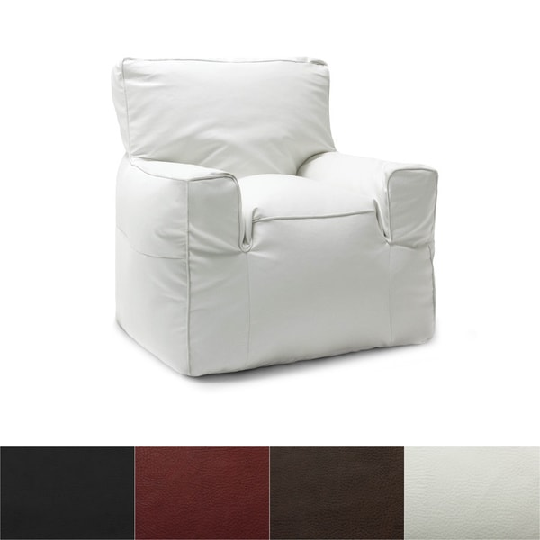 BeanSack Big Joe Suite Vegan Leather Bean Bag Arm Chair