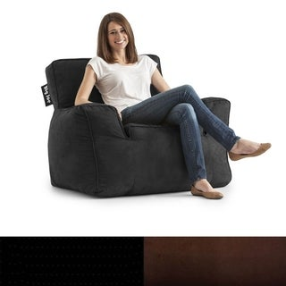 BeanSack Big Joe Suite Microsuede Bean Bag Arm Chair