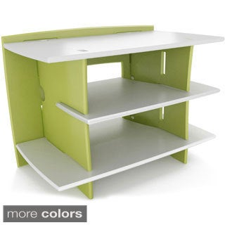 Legare Green and White Gaming Stand