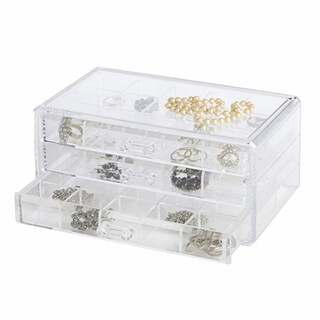 Richards Homewares Clear Acrylic 3-drawer Stackable Personal Organizer
