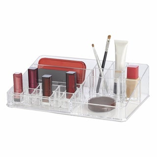 Richards Homewares Clear Acrylic 21-Compartment Personal Organizer