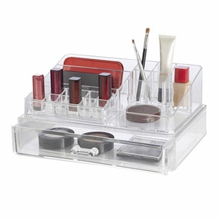 Richards Homewares Clear Acrylic Personal Organizer with XL Drawer
