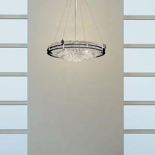 Justice Design Group Metropolis 6-light Polish Chrome Semi-flush Bowl
