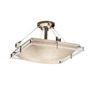 Justice Design Group Metropolis 3-light Polish Chrome Semi-flush Bowl