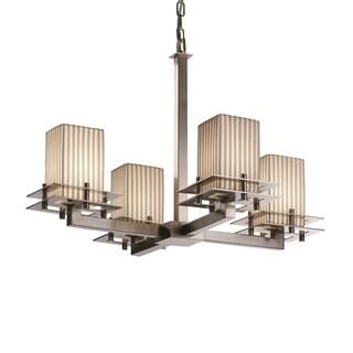 Justice Design Group Metropolis 4-light Brushed Nickel Chandelier