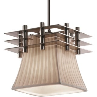 Justice Design Group Metropolis 1-light Brushed Nickel Pendant