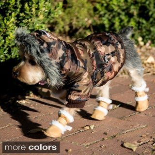 Pet Life Insulated Dog Coat and Duggz Boots Bundle