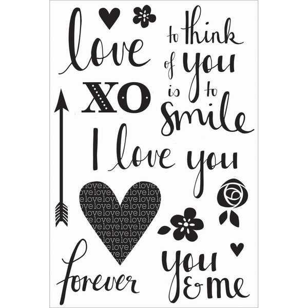 XO Clear Stamps 6.25X4in