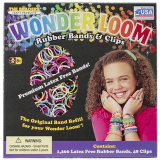 Wonder Loom Rubber Bands And Clips Refill Set