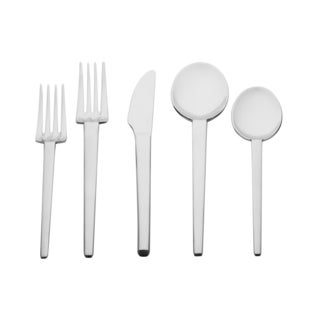 Red Vanilla Iris 20-piece Stainless Steel Flatware Set