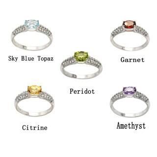 De Buman Genuine Gemstone Sterling Silver Ring