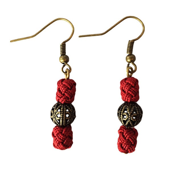 Djellaba Bead Earrings (Morocco)