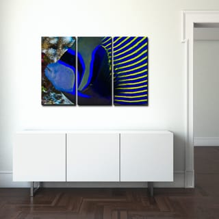 Chris Doherty 'Underwater Bleus' 4-piece Canvas Wall Art