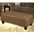 Ottoman Bench with Tufted Bonded Leather