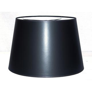 Black Hardback Large Modified Drum Shade with Self Trim