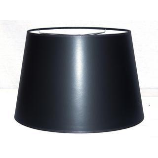 Crown Lighting Black Hardback Large Modified Drum Lampshade with Self Trim