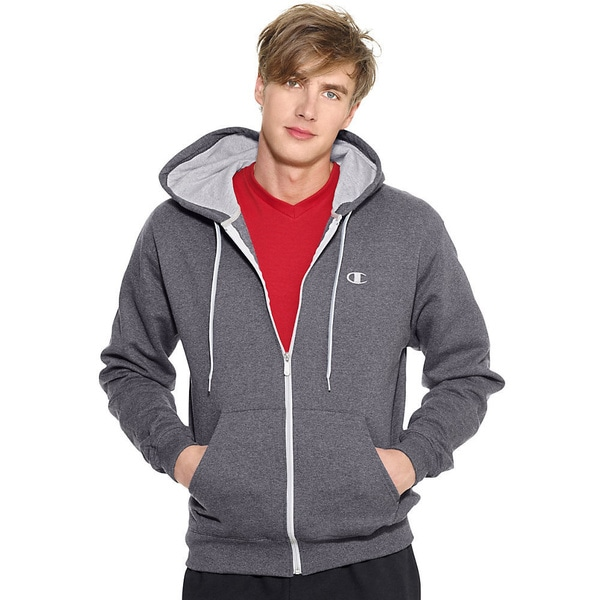 Champion Men's Eco Fleece Full-zip Hoodie Small Size in Crimson (As Is Item)