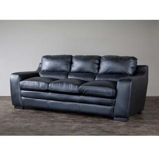 Baxton Studio Diplomat Upholstered Black Modern Sofa