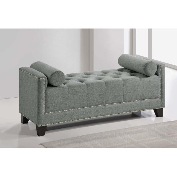 Baxton Studio Walsh Upholstered Modern Tufted Bench