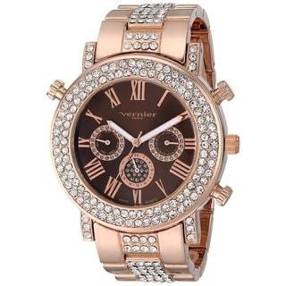 Women's Vernier Paris Crystal Multi-function Swiss Quartz Watch