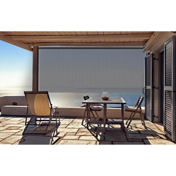 Outdoor Sunshade with Crank in Stone Finish