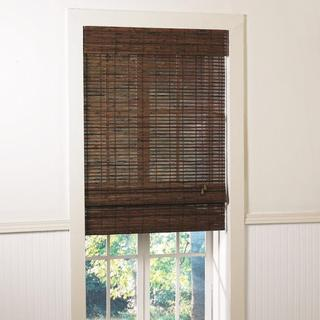 Santa Collection Cruz Rosewood Finished Bamboo Roman Shade