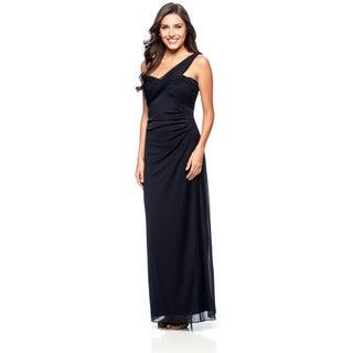 Alex Evenings Women's Dark Navy One-shoulder Evening Gown