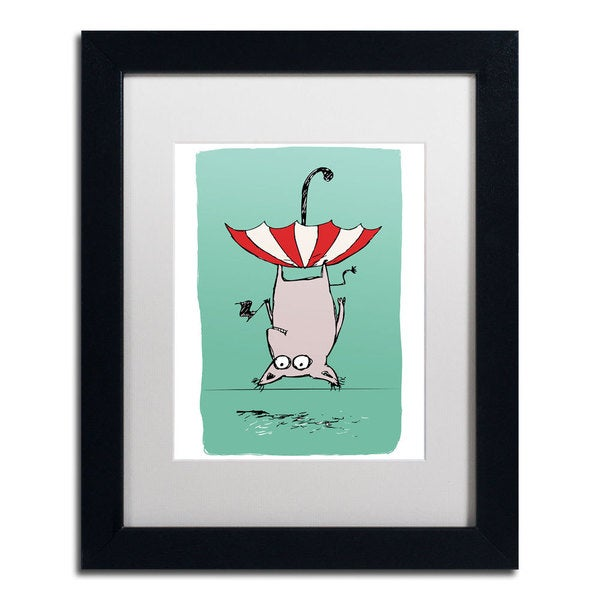 Carla Martell 'Upside Down Animal' Framed Matted Art