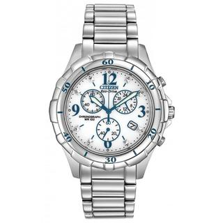 Citizen Women's FB1350-58A Eco-Drive Silvertone White Dial Quartz Watch