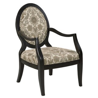 Sloan Oval Back Floral Accent Chair