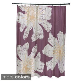 Floral 71x74-inch Shower Curtain