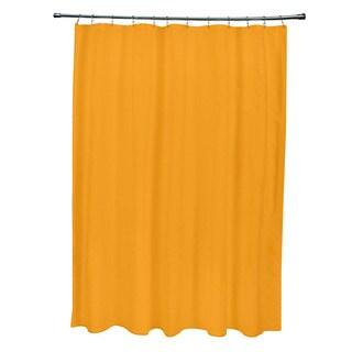 Celosia Orange Solid Shower Curtain