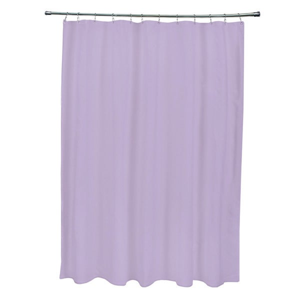Lilac Purple Solid Shower Curtain 14170233